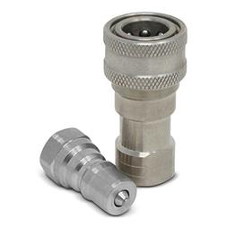 "1/4"" NPT ISO 7241-B Stainless Steel Quick Disconnect Hydraul"