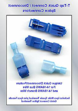 10 Pr T-Tap BLUE QUICK CONNECT / Disconnect Splice Connector