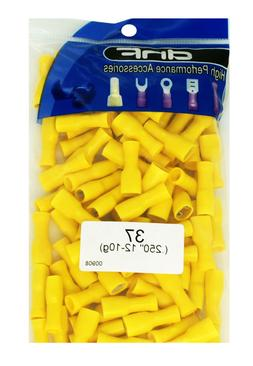 100 PACK 12-10 GAUGE YELLOW VINYL FULLY INSULATED FEMALE QUI
