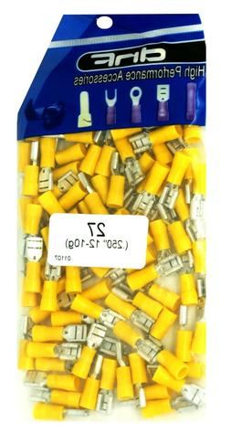 YELLOW VINYL 12-10 GAUGE FEMALE QUICK DISCONNECT WIRE CONNE