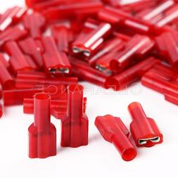 100 pcs 3M Red 22/18 Gauge .25 Fully Insulated Nylon Female