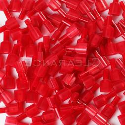 100pcs Red 22/18 Gauge .25 Fully Insulated Nylon Male Quick