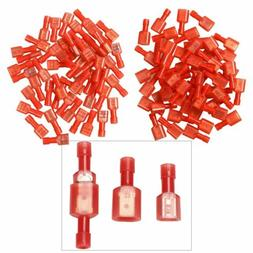100X Male/Female 22-16 Gauge Insulated Wire Terminal Quick D