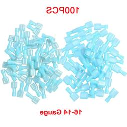 100X Male/Female Insulated Quick Disconnect Connectors 16-14