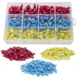 Ginsco 300pcs 22-18/16-14/12-10 Gauge Nylon Fully Insulated