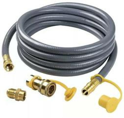 SHINESTAR 12Feet 1/2-inch ID Natural Gas Hose with Quick Con