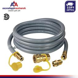 GASLAND 12Ft 1/2 inch ID Gas Line with Quick Connect/Disconn
