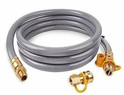 """15 Ft 3/4"""" ID Natural Gas Hose Quick Connect/Disconnect Fitt"""