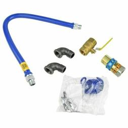 """Dormont 16100KIT48 48"""" x 1"""" Gas Connector Kit With 2 Elbows"""
