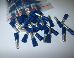 25 Male Wire Quick Disconnect Bullet Connector Blue 16-14 Ga