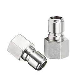 "2Pcs Stainless Steel Female Quick Disconnect FPT 1/2"" Homebr"