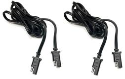 2pc 6ft. Battery Quick Disconnect Connect 2-Pin SAE Extensio