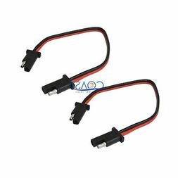 """2X Car Quick Disconnect Connect 12 Gauge 2 Pin 12 """" SAE Wate"""