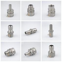 304 Stainless Steel Quick Disconnect Set Homebrew Fitting Co