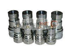 "4 Sets of 3/8"" ISO 7241-B Hydraulic Quick Disconnect Coupler"