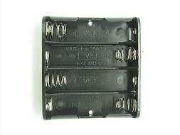 4xAA Battery Holder with 9V-Style Snap Connectors - 6V - Phi