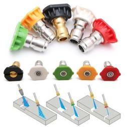5Pcs Pressure Washer Spray Nozzles Set Fit For Quick Connect
