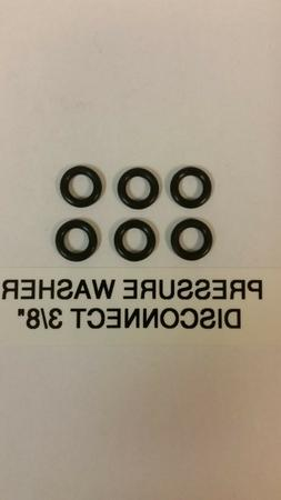 """6 PIECES PRESSURE WASHER O-RING KIT QUICK DISCONNECT 3/8"""" ID"""