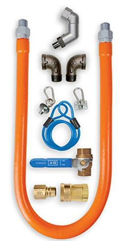 BK Resources Swivel Pro Gas Hose Connection Kit with Accesso