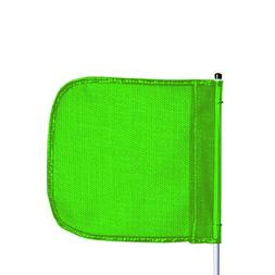 "Flagstaff FS6 Safety Flag, Male Quick Disconnect Base, 6"" Ov"