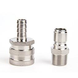 """Stainless Steel Quick Disconnect Set/Include one 1/2"""" barb m"""