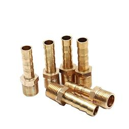 """ZXHAO Brass Air Water Pipe Quick Couple Adapter 6mm/0.24"""" Ba"""