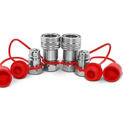 """1/2"""" Ag Hydraulic Quick Connect Couplers Couplings, Ball Pio"""
