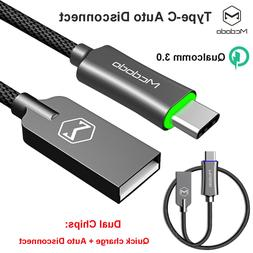 Mcdodo Auto Disconnect Type-C USB Cable 3.0 Quick Charger Sa