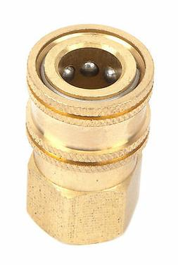 "Brass 1/4"" Female Quick Coupler Disconnect Socket 5000 PSI P"