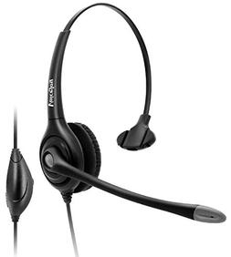 Call Center Headset with Noise Canceling Mic+Quick Disconnec