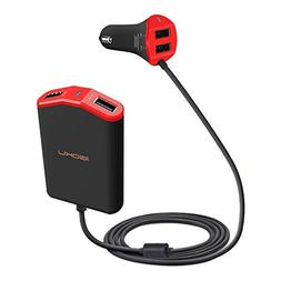 iGOKU Car Charger USB 4 Ports 48W 9.6A with Built-in Fuse, D