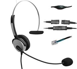 Voistek Corded Mono Monaural Call Center Telephone RJ Headse