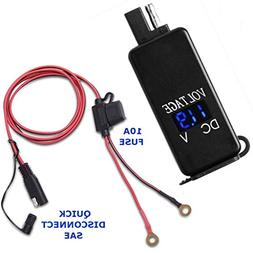 4.8 AMPS Fast SAE to Dual Waterproof USB Charger w/Voltmeter
