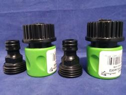 FIVE NEW GARDEN HOSE QUICK DISCONNECT GREEN / BLACK