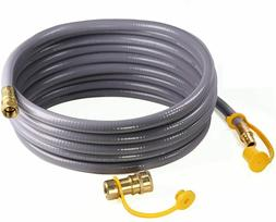 DOZYANT 12 Feet Natural Gas Grill Hose with Quick Connect Pr