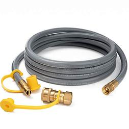 GASPRO 12FT Natural Gas and Propane Gas Hose Assembly for Lo