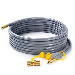 "SHINESTAR 24 feet Natural Gas Hose with 3/8"" Male Flare Qu"