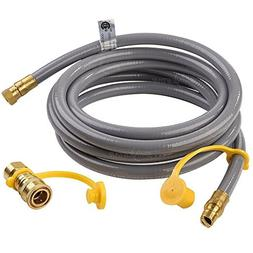 "SHINESTAR 12 feet Natural Gas Grill Hose with 3/8"" Male Fl"