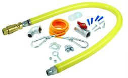 T&S Brass HG-4C-48K Gas Hose with Quick Disconnect, 1/2-Inch
