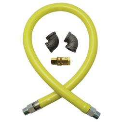 T&S Brass HG-4F-48 Gas Hose with Quick Disconnect, 1-1/4-Inc