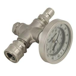 """Inline SS Wort Thermometer w/ 1/2"""" Stainless Steel Quick Dis"""