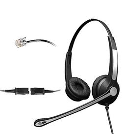 4Call K702FQMB Corded QD Telephone Headset with NC Mic for A
