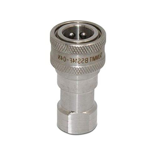 """1/4"""" Stainless Steel Quick Hydraulic Coupling/Coupler"""