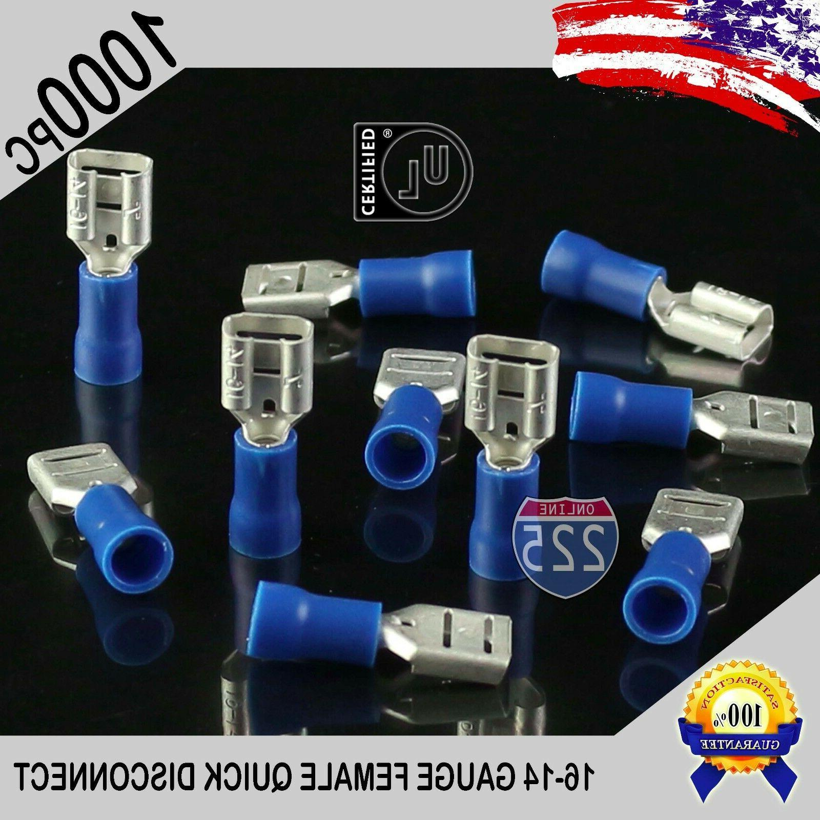 """100 Pack 16-14 Gauge Blue Male Quick Disconnect Terminals .250/"""" SHIPS FREE!"""