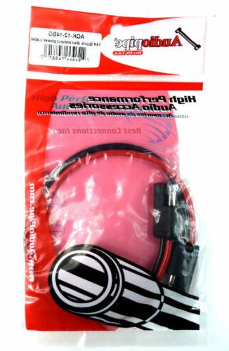 """12"""" 14 Gauge 2 Pin Quick Disconnect Molded"""
