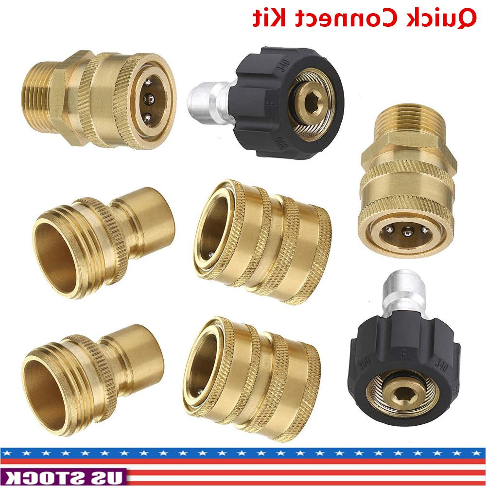 8 pressure washer adapter set quick disconnect