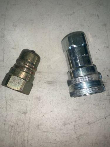 8kf8 quick connect coupling hydraulic fitting disconnect