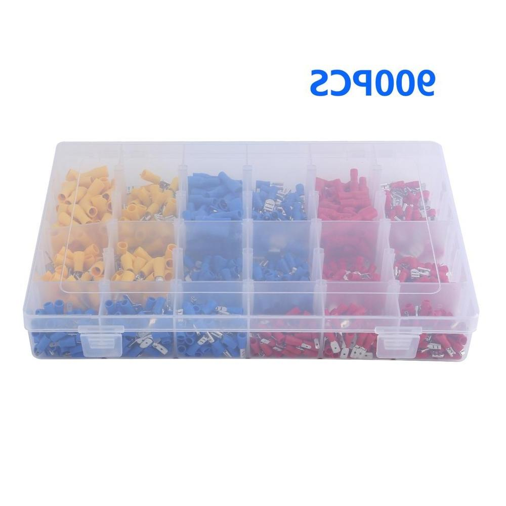 900PCS Male <font><b>Wire</b></font> <font><b>Disconnects</b></font> Connectors Insulated Terminal With