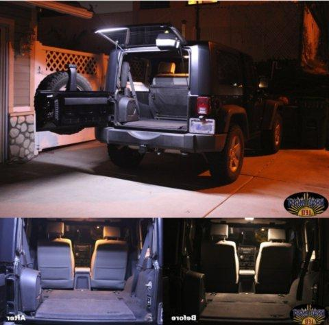 Brawlee Jeep LED Rear Lift Dome Light Bar for 07-18 JK JLU easy safety at night Great for Camping, by