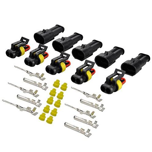 HIFROM 5 Kit 2 Pin Way Waterproof Electrical Connector 1.5mm